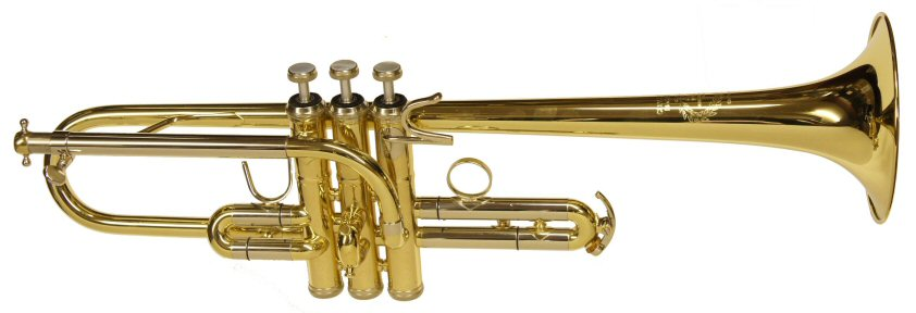 B & S Challenger D Trumpet. This is a trumpet in D only, not an Eb/D. Supplied as instrument only. Ex-display with repaired dings on the bell flare & two dings on the bell near the valves. Fixed bell & tunes via the mouthpipe