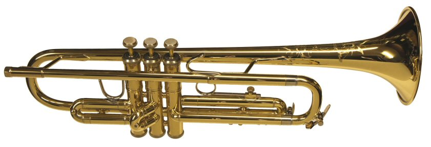 Bach Omega Trumpet. New condition apart from lacquer faults. Outfit includes woodshell case & Bach 7C mouthpiece. Price £499.00