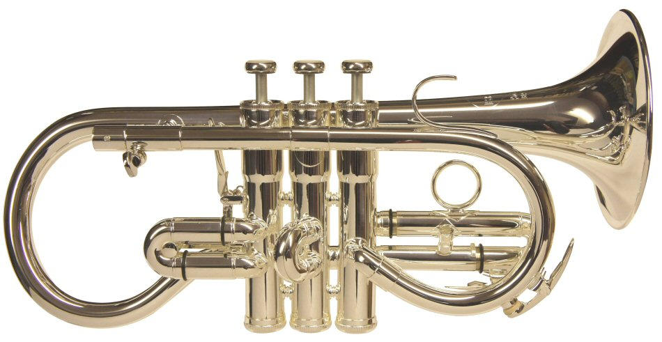Besson Sovereign Soprano Cornet. Available in lacquer or silver plate