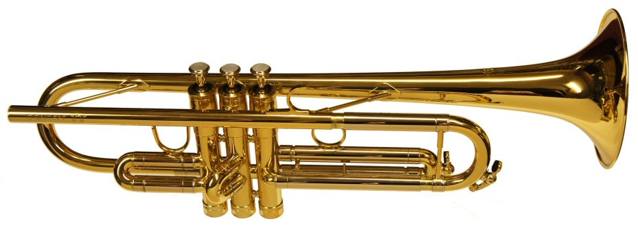 Selmer Concept TT Trumpet Gold Lacquer. Bore 11,75 mm. Bell 129 mm. Twin tube leadpipe (double mouthpipe). Light and heavy valve caps included