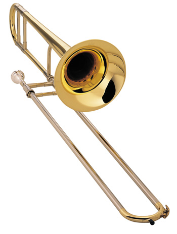 "King 2102L 2B Legend trombone, Jiggs Whigham model, .491"" (12.47mm) bore, 7-3/8"" (187mm) bell, nickel silver outer slides, lightweight slide, lacquer finish, Whigham mouthpiece, 7553L woodshell case. Full warranty. An ultra-lightweight horn for exciting jazz lead performance."