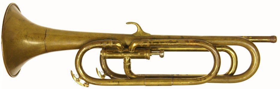 Leedy & Ludwig Bugle in G & D. C1930s. Good condition. Instrument only. Uses a trumpet mouthpiece Price £299.00