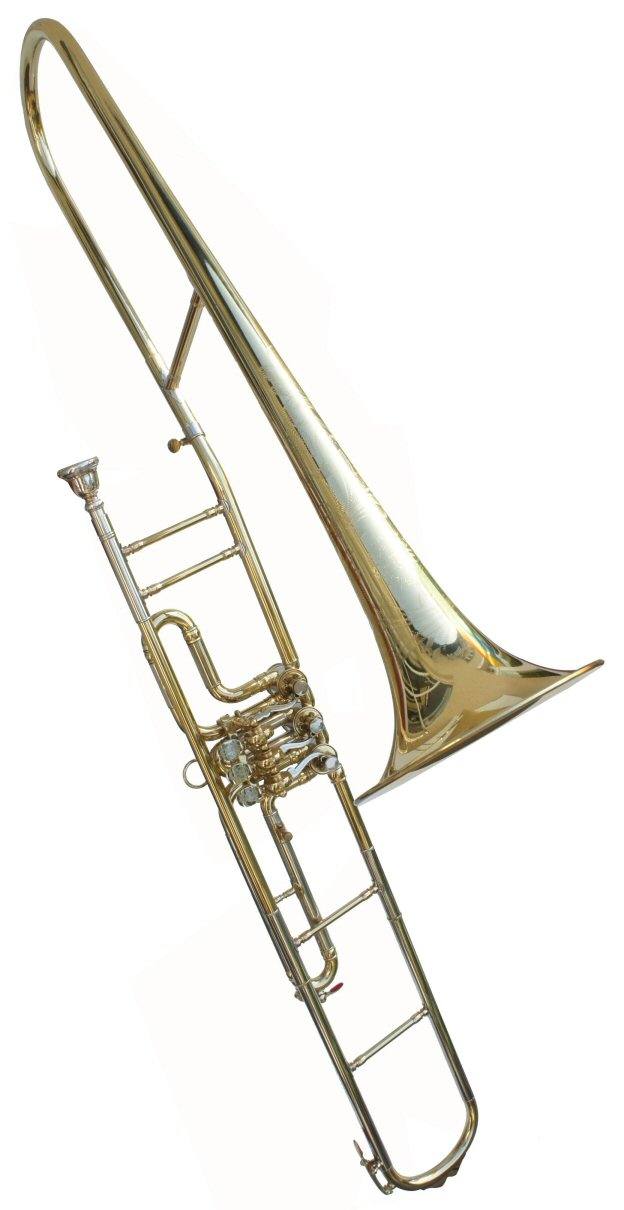 Orsi Rotary Valve Trombone. Very good condition. Includes original woodshell case. Price £1000.00