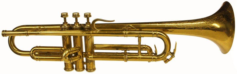Rolls Diplomat Trumpet. Probably made by Bohland & Fuchs in Bohemia for Selmer. Early 1930s Art Deco design. Good condition & in playing order. Rimless bell & fluted valve casing. Case included. Price £899.00