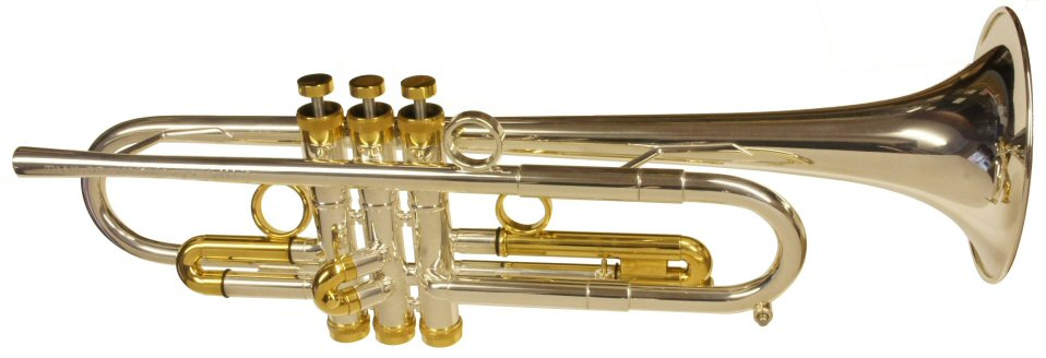 Taylor Chicago Lite Trumpet. Silver plated with gold trim
