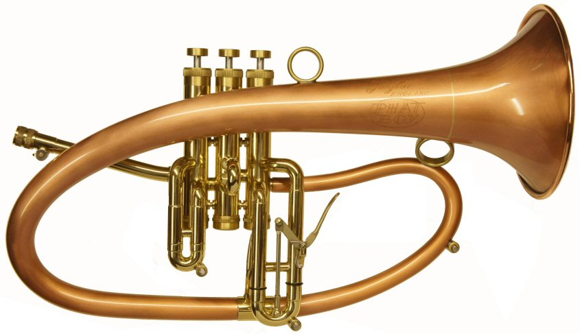 Taylor Phat Boy Flugel Horn. TAYLOR PHAT BOY FLUGELHORN REVIEW (Bryan Corbett) Upon opening the package that contained the instrument for review, the first thing that hits you when you see the new Taylor flugel is 'wow', what a horny looking horn