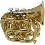 CarolBrass CPT 1000 YSS C L Mini Pocket Trumpet in C 1
