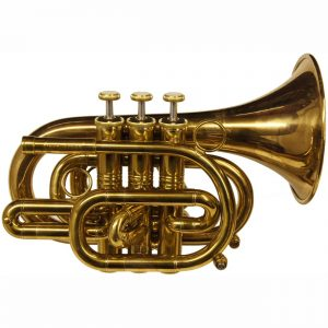 CarolBrass CPT 3000 GLS Bb AL Amber Lacquer Pocket Trumpet