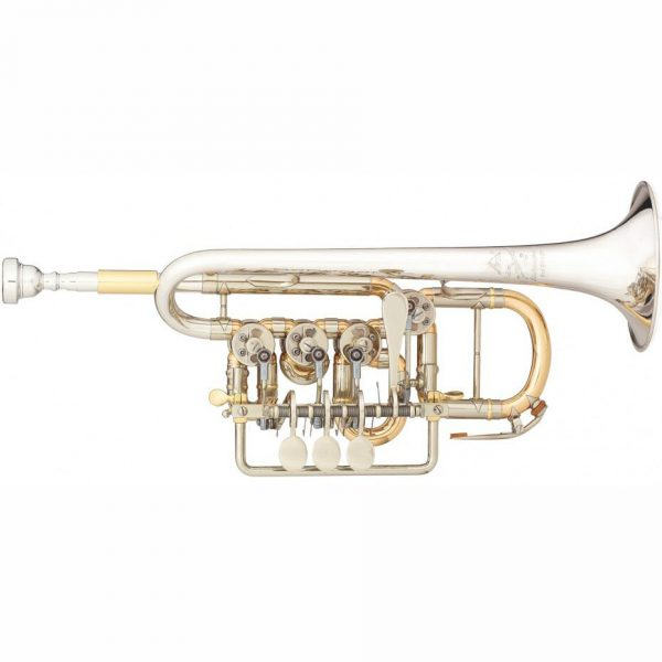 Scherzer 8112 Rotary Valve Piccolo Trumpet Sterling Silver Bell