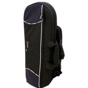 Tom Will trumpet gig bag in black with navy trim1